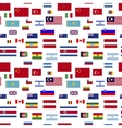 Flags of world sovereign states on white seamless vector image
