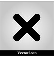 cross sign on grey background vector image