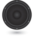 Audio speaker app icon vector image