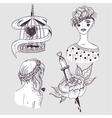 Cute tattoo set vector image