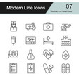 medical and healthcare icons vector image