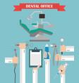 modern dental office flat set design concept with vector image