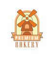 premium bakery logo template bread shop badge vector image