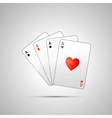 Winning poker hand of four aces vector image