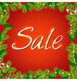 Xmas Sale Poster vector image
