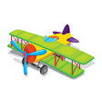Toy propeller plane vector image