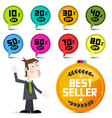 Discount Labels Sale Labels Circle Colorful Icons vector image