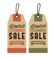 Set of discount sale labels vector image vector image
