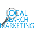 Find Local Search Marketing Tool vector image vector image