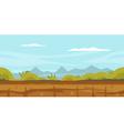 Nature Game Background Landscape vector image
