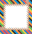Frame of colored pencils vector image
