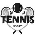 Set Of Tennis Badge Logo Templates T-Shirt Graphi vector image