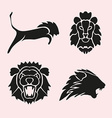 lion symbols set vector image vector image