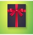 Black box red ribbon bow vector image