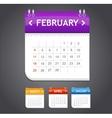 calendar february vector image