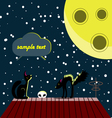 Cats and moon vector image