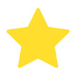 Isolated yellow star icon ranking mark vector image