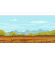 Nature Game Background Landscape vector image