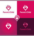 parentand child vector image