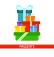 pile of presents vector image