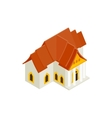 Thai traditional house icon isometric 3d style vector image