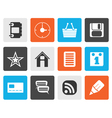 Flat Internet and Website Icons vector image vector image