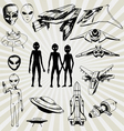 aliens vector image