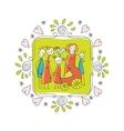 Cute Family Frame vector image