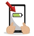 Low battery charging icon design vector image