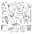 Office equipment isometric Set of icon vector image