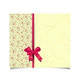 Beautiful yellow greeting card vector image