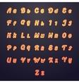 Neon letters Glow tube brightness symbols vector image
