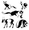 original art animal silhouettes vector image