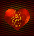 romantic love quote design vector image