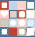 set of 16 frame vector image