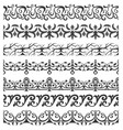 set of seamless ornate brushes vector image
