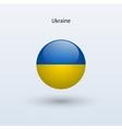 Ukraine round flag vector image
