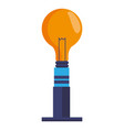 ceiling bulb light electricity energy vector image