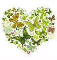 Big spring heart vector image