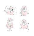 Funny sheep character design vector image vector image