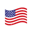 American flag in grunge style vector image