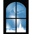 christmas window vector image