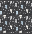 abstract seamless pattern with cute bears for vector image