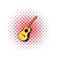 Acoustic guitar comics icon vector image