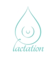 Breastfeeding and lactation symbol vector image