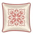 Christmas embroidered pillow vector image