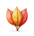 yellow orange red cartoon leaf vector image