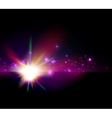abstract shiny star  space background vector image vector image