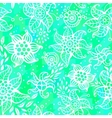 Seamless abstract pattern with flowers vector image