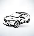 modern crossover offroader sport car vector image vector image